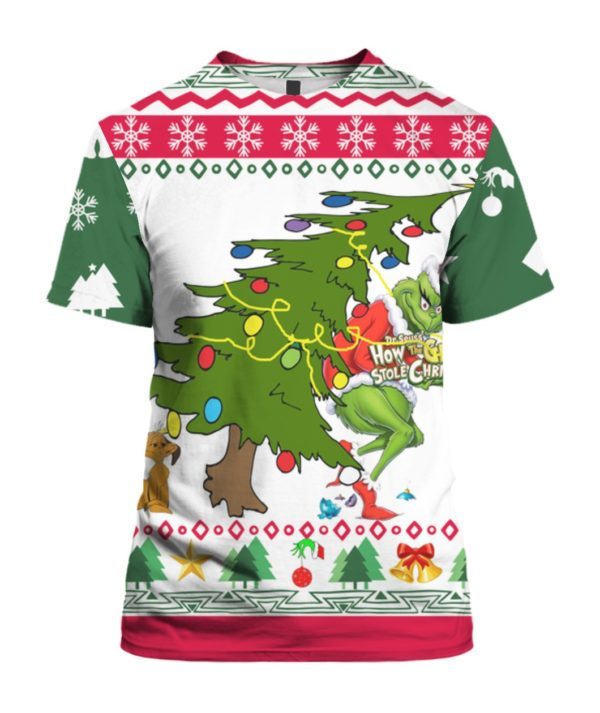 Grinch Stole Christmas 3D Print Ugly shirt