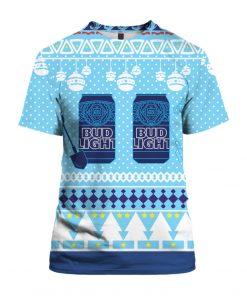 Bud Light Can Beer 3D Print Ugly Christmas Shirt