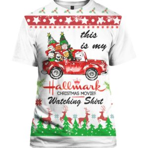 Snoopy Hallmark 3D Print Ugly Christmas shirt
