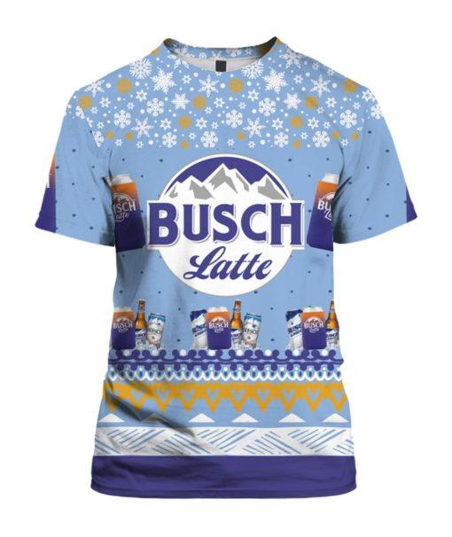 Busch Latte Beer 3D Print Ugly Christmas Shirt