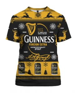 Guinness Foreign Extra Stout 3D Print Ugly Christmas Sweater Hoodie Shirt