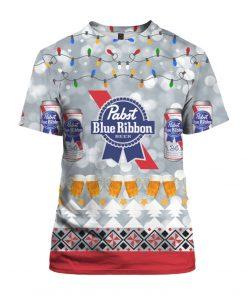 Pabst Blue Ribbon Beer 3D Print Ugly Christmas Shirt