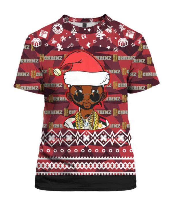 2 Chainz Santa 3D Print Ugly Christmas shirt