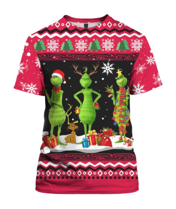 Tree Grinch 3D Print Ugly Christmas shirt
