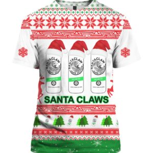 Santa Claws White Claw 3D Print Ugly Christmas shirt