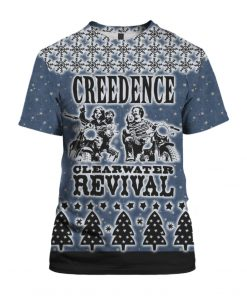 Creedence Clearwater Revival Rockband 3D Print Ugly Christmas shirt