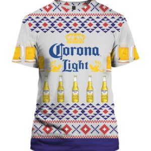 Corona Light Beer 3D Print Ugly Christmas shirt