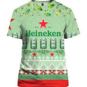Heineken Beer 3D Print Ugly Christmas shirt