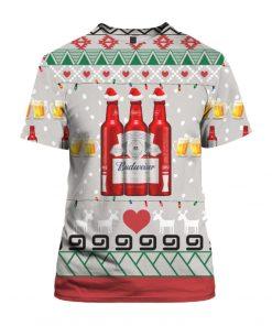 Budweiser Beer Red Bottles 3D Print Ugly Christmas shirt
