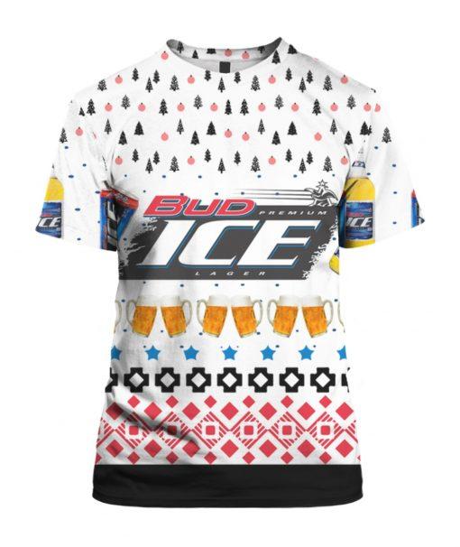 Bud Ice Beer 3D Print Ugly Christmas shirt