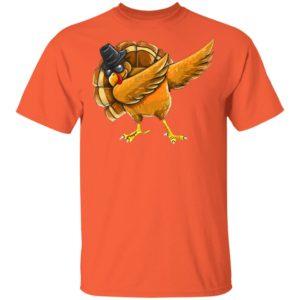 Dabbing Turkey Shirt Thanksgiving Boys Kids Men Turkey Day shirt