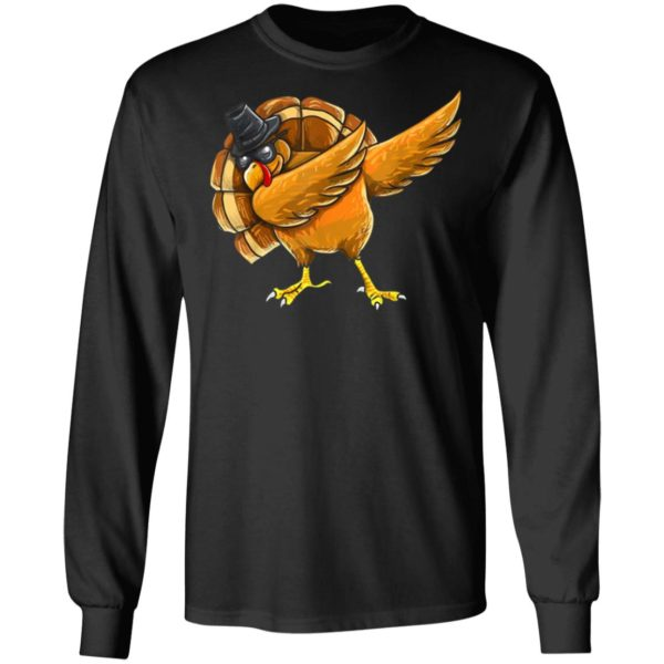 Dabbing Turkey Shirt Thanksgiving Boys Kids Men Turkey Day ls