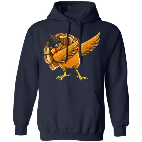 Dabbing Turkey Shirt Thanksgiving Boys Kids Men Turkey Day Shirt hoodie