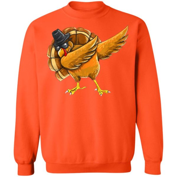 Dabbing Turkey Shirt Thanksgiving Boys Kids Men Turkey Day Shirt Sweater