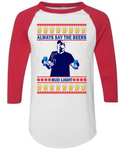Jeff Adams Always Save The Beers Bud Light Ugly Christmas