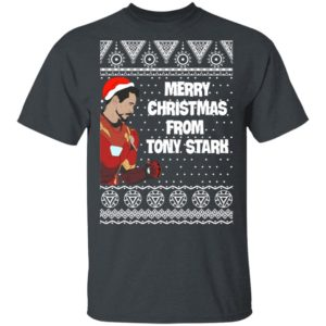 Tony Stark Iron Man Merry Christmas From Tony Stark Avengers Ugly