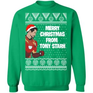 Tony Stark Iron Man Merry Christmas From Tony Stark Avengers Ugly Sweatshirt