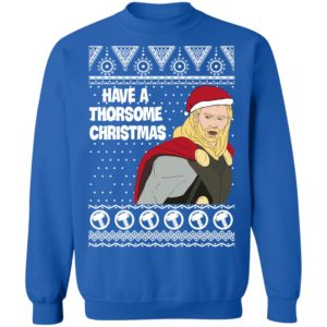 Thor Have a Thorsome Christmas God of Thunder Avengers Ugly Sweatshirt