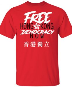 Free Hong Kong Democracy Now Hong Kong independence Flag shirt