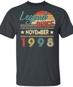 Legend Since November 1998 21 Years Old Birthday shirt