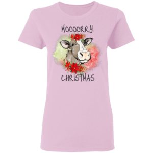 Moooorry Christmas holiday cow shirt
