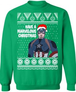 Captain America Have A Marvelous Christmas Avengers Ugly Sweatshirt