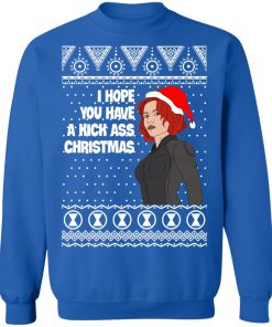 Black Widow I Hope You Have a Kick Ass Christmas Avengers Ugly Sweatshirt