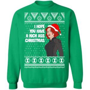 Black Widow I Hope You Have a Kick Ass Christmas Avengers Ugly Sweatshirt