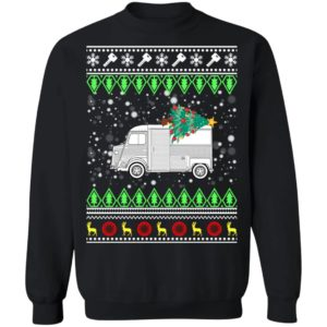 Citroen H Van Classic Car Ugly Christmas Sweatshirt