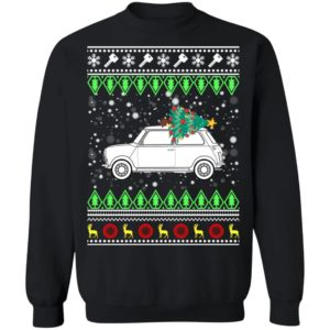 Austin Mini Classic Car Ugly Christmas Sweatshirt