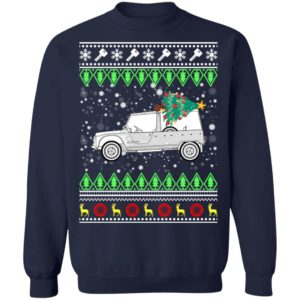 Citroen Mehari Classic Car Ugly Christmas Sweatshirt