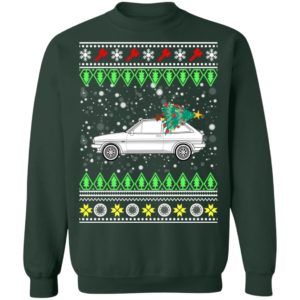 Ford Fiesta XR2 Classic Car Ugly Christmas Sweatshirt