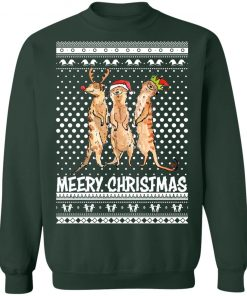 Meery Merry Christmas Meerkat Humour Animals Ugly Sweatshirt