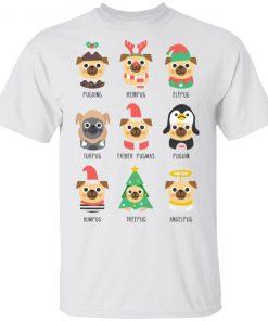 Christmas Pug Pugding Reinpug Elfpug Turpug Father Pugmas Funny