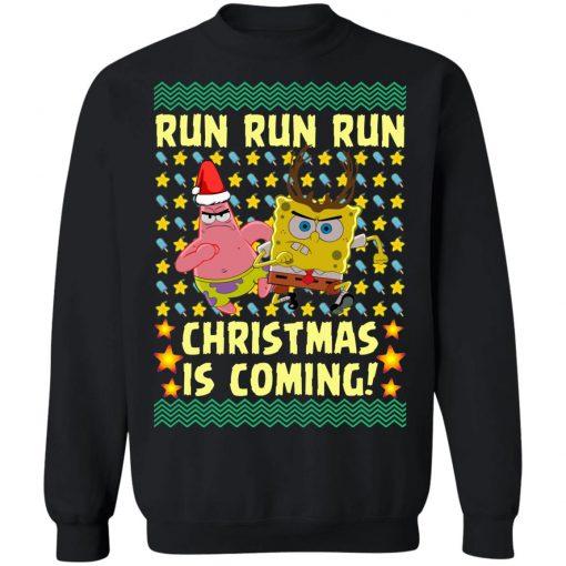 Spongebob Patrick Star Christmas Is Coming Ugly Christmas Sweater