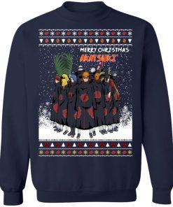 Merry Christmas Akatsuki Members Naruto Shippuden Anime Ugly Sweatshirt