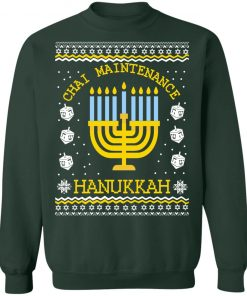 Hanukkah Ugly Christmas Sweater Chai Maintenance
