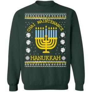 Hanukkah Ugly Christmas Sweater Chai Maintenance