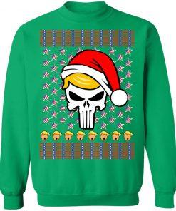 Trump Punisher Ugly Christmas Shirt Sweater