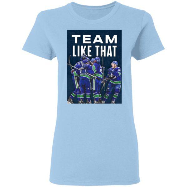 Vancouver Canucks Team Like That Shirt