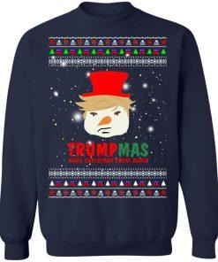Trump Snowman Trumpmas Make Christmas Great Again Ugly Christmas Sweater