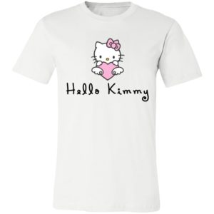 Kitty Cat Hello Kimmy Kanye West Kim Kardashian Couple Shirt