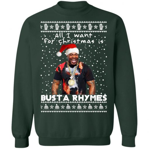 Busta Rhymes Rapper Ugly Christmas Sweater