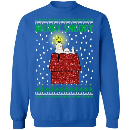 Snoopy Peanuts Red Dog House Christmas Sweater