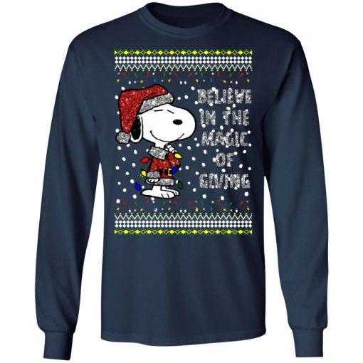 Snoopy Believe In The Magic Of Giving Christmas