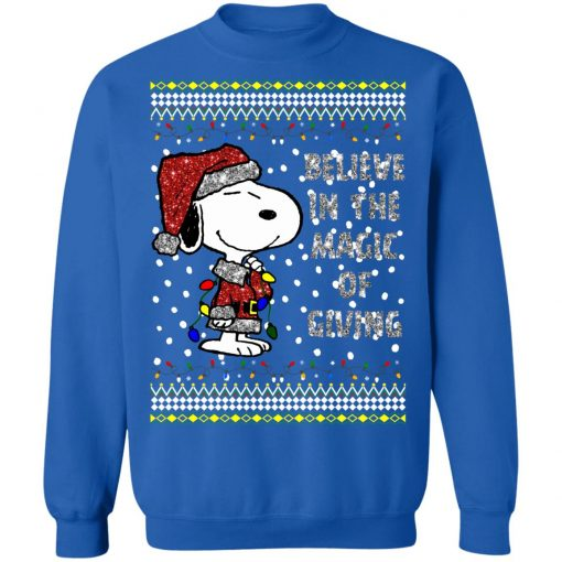 Snoopy Believe In The Magic Of Giving Christmas Sweater