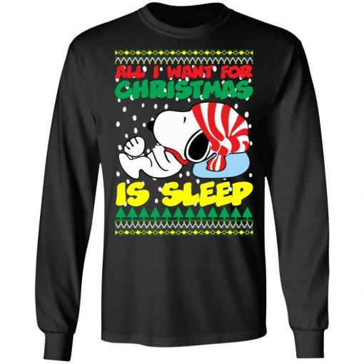 Snoopy All I Want For Christmas is Sleep Christmas