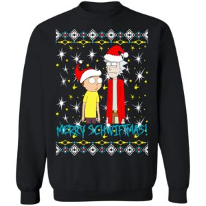 Rick and Morty Merry Schwiftmas Ugly Christmas Sweatshirt