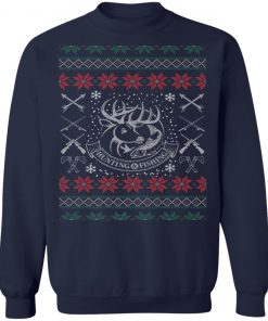 Hunting Fishing Lover Ugly Christmas Sweater