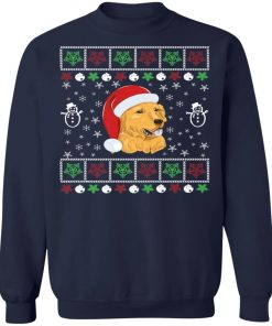 Womens Golden Retriever Lover Ugly Christmas Sweatshirt